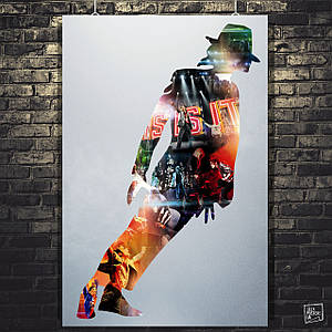 Постер Майкл Джексон, Michael Jackson. Размер 60x39см (A2). Глянцевая бумага