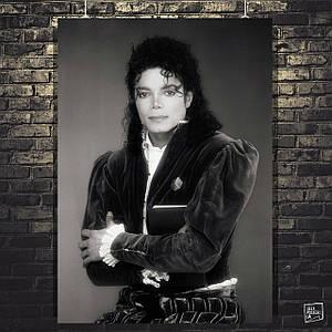 Постер Майкл Джексон, Michael Jackson, ретрофото. Размер 60x43см (A2). Глянцевая бумага