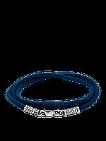 Синий шнурок с серебряной застежкой, фото 1