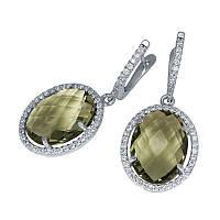 Серебряные серьги с крупными камнями