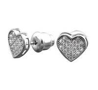 Серебряные серьги пусеты Сердечки, фото 1