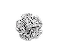 Шарм серебряный с камнями Цветок