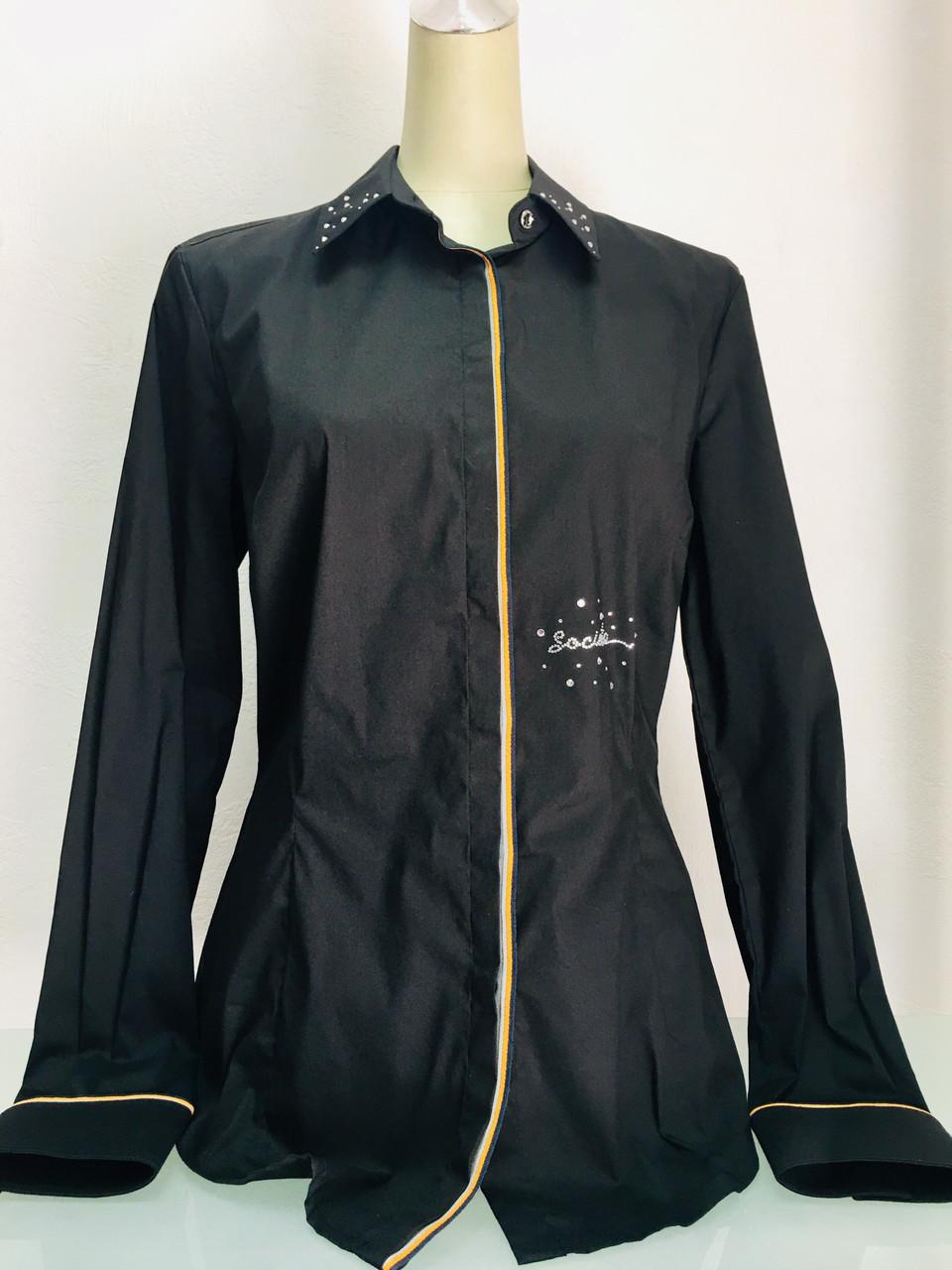 Блуза рубашка Societa женская черная