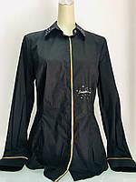 Блуза рубашка Societa женская черная, фото 1