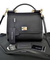 Сумка Dolce & Gabbana Sicily Black Дольче Габана Сисли  реплика 5А