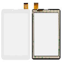 Сенсорный экран Nomi C07008 Sigma белый (30 pin), HS1275 V106/FM707101KD/370-A/YLD-CEG7069-FPC-AO/MDJ M706 FPC (тачскрин, стекло в сборе), Сенсорний