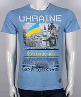 Футболка Glory to Ukrayne (світло-джинсова)