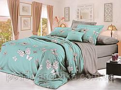Двоспальний комплект з сатину Казкові метелики