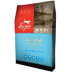 ORIJEN 6 FISH for DOGS Повноцінний і збалансований корм для собак усіх порід і вікових груп 0,34 кг