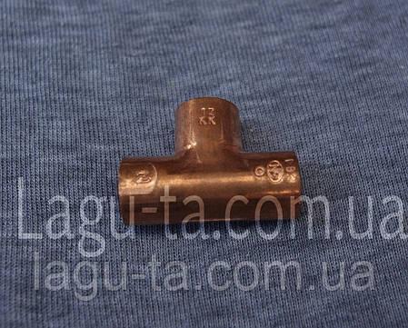 Тройник медный 15 мм, фото 2