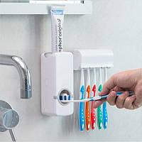 Дозатор для пасты + держатель для зубных щеток, фото 1