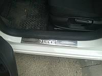VW Jetta 2011 Накладки на пороги OmsaLine (4шт, нерж)