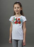 Детская футболка с цветочной вышивкой