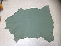 Кожа одежная овчина зеленый киви, фото 1