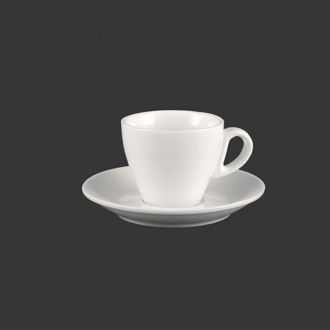 Кофейная чашка с блюдцем HLS Extra white 80 мл (W0287)