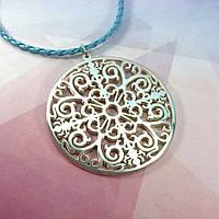 Ажурный серебряный кулон в стиле Тиффани