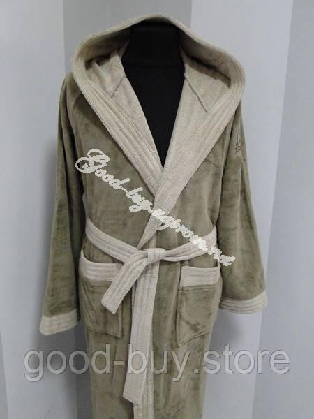 8feb8aaec35b Бамбуковый мужской халат с капюшоном Ramel Турция -