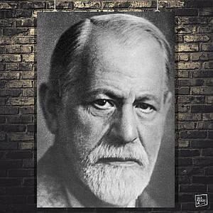 Постер Зигмунд Фрейд, Sigmund Freud. Размер 60x42см (A2). Глянцевая бумага