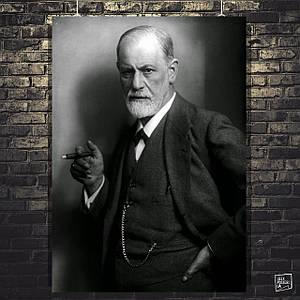 Постер Зигмунд Фрейд, Sigmund Freud. Размер 60x43см (A2). Глянцевая бумага