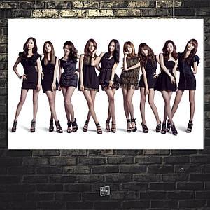 Постер Girls Generation / SNSD / SoShi / к-поп. Размер 60x43см (A2). Глянцевая бумага