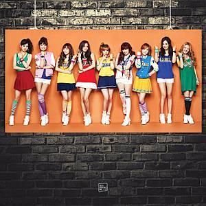 Постер Girls Generation / SNSD / SoShi / к-поп. Размер 60x30см (A2). Глянцевая бумага