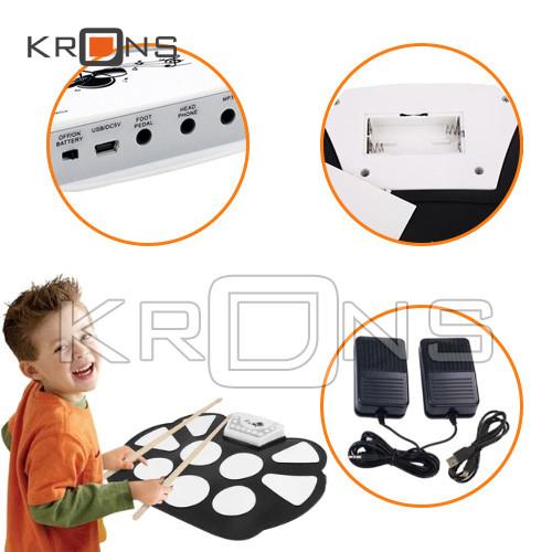 Барабанная установка пэды Konix W758 USB гибкие Барабаны