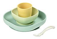 Набор силиконовой посуды Beaba 4 предмета - yellow, арт. 913436