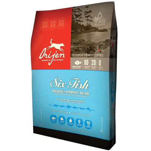 ORIJEN 6 FISH for DOGS Полноценный и сбалансированный корм для собак всех пород и возрастов 11,4кг