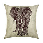 Наволочка декоративная Индийский слон 45 х 45 см Berni