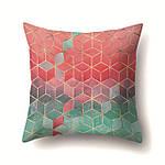 Наволочка декоративная Зелено - красные кубы 45 х 45 см Berni