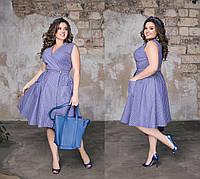 Женское летнее коттоновое платье большого размера в полоску на запах.Размеры:48-58.+Цвета, фото 1
