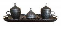 Подарочный сервиз для кофе по-турецки (серебро) 100 мл (10006891)