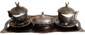 Подарочный сервиз для кофе по-турецки (бронза) 100 мл (10006892)