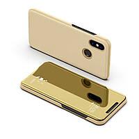 Чехол Mirror для Xiaomi Redmi Note 5 / Note 5 Pro книжка зеркальный Gold