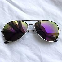 Очки TOP Aviator капли солнцезащитные Purple S
