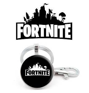 Брелок Fortnite черно-белый