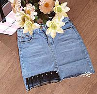 Короткая джинсовая юбка , фото 1