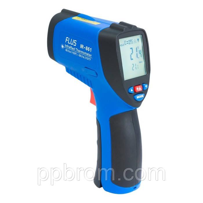 """Профессиональный пирометр Flus """"IR-861"""" (-50...1150°C, 50:1, 0.1-1)"""
