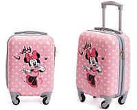 Детская дорожный чемодан Mikki Mouse желтый 46х31х20 см