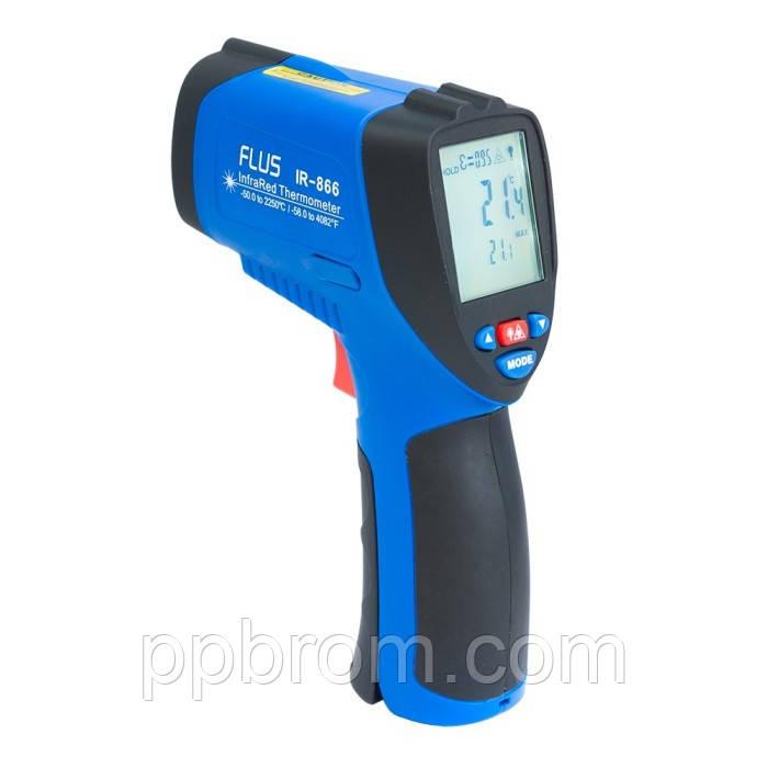 """Профессиональный пирометр Flus """"IR-866"""" (-50...2250°C, 50:1, 0.1-1)"""