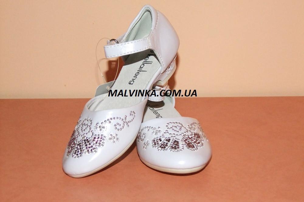 Туфли на  девочку 28  р белые арт 311  KLF., фото 1