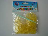 200 штук неоновых желтых резиночек для плетения Loom Bands
