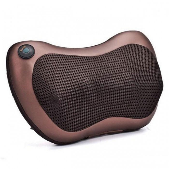 Роликовый массажер для спины и шеи Massage pillow GHM 8028, массажная подушка, массажер с подогревом