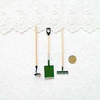 """1:12 Миниатюра набор """"Инструменты для сада"""", 10 см"""