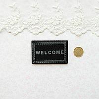 1:12 Миниатюра Коврик Welcome 5.8*3.8 см ЧЕРНЫЙ