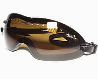 Защитные очки с поликарбонатными линзами V4 КОРИЧНЕВЫЕ