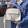 """Женская кожаная сумка-саквояж  """"Элизавет Beige"""""""
