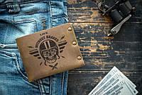 Мужской кожаный кошелек ТатуНаКоже, без тормозов, фото 1