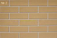 Гибкий кирпич (клинкер), цвет 2 - гладкая фактура кирпич 3 мм  на сетке, фото 1