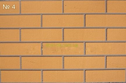 Гибкий кирпич  (клинкер), цвет 4  гладкая фактура кирпич на полотне